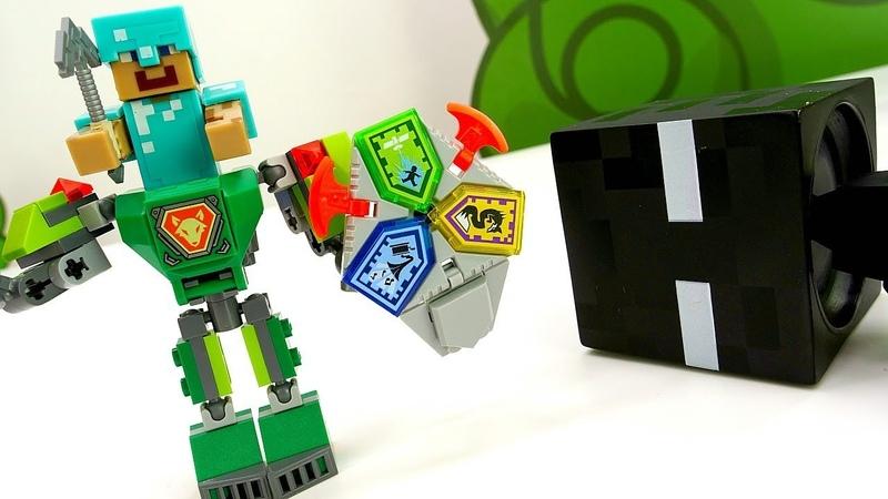 Игры для мальчиков. Стив Майнкрафт делает Лего Робота!