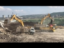 Two Cat 385CL Excavators Loading Trucks - Sotiriadis Brothers