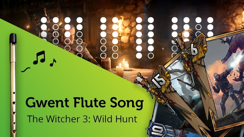 Gwent Flute Song 'A Story You Won't Believe' (The Witcher 3) on Tin Whistle D tabs tutorial