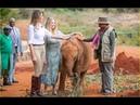 US First Lady Melania Trump In Kenya, Visits Elephant nursery in Nairobi National Park