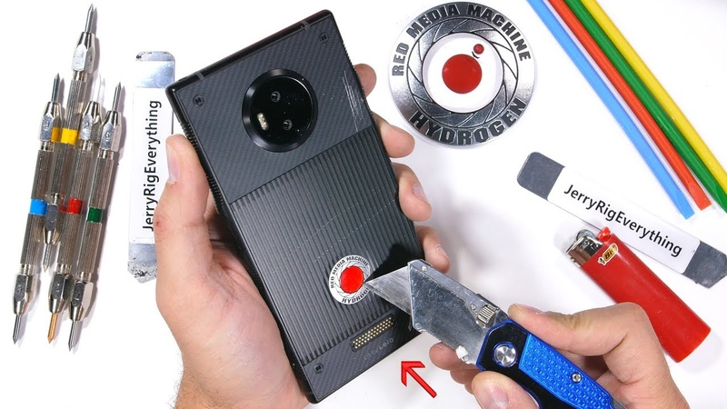 RED Hydrogen One Durability Test - Scratching a Holographic Display