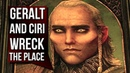 Witcher 3 Ciri and Geralt WRECK Avallac'h's Laboratory Go for it