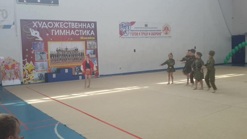 Показательное выступление гимнасток «Смуглянка-молдаванка» под руководством тренера Любови Кизиловой