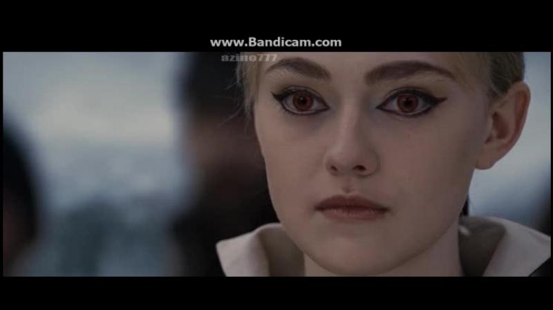 Сумерки Рассвет, часть 2. Бэлла кидает вызов Джейн защитив всех своим щитом