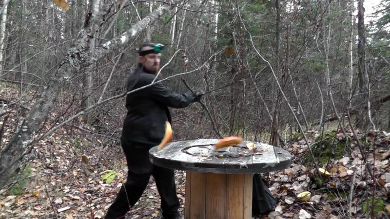 Pumpkin disposal the fun way including a HUGE sword mp4