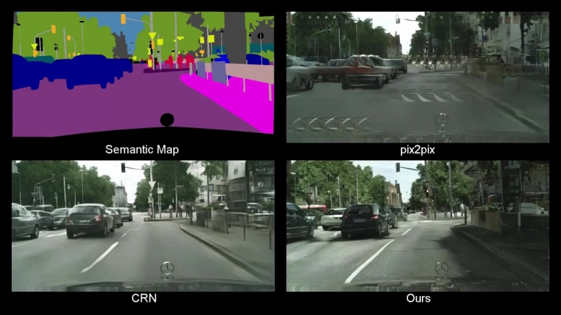 High-Resolution Image Synthesis and Semantic Manipulation with Conditional GANs