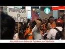Ato em São Paulo em defesa da Petrobrás e em apoio ao Petroleiros e Por Lula Livre.