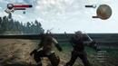The Witcher 3 казнь/бой (полуторный меч, фехтование) coub