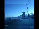Архангельск. Неопределившийся УАЗик чуть не выдавил с дороги.