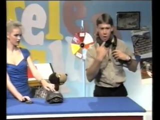 Змея кусает Стива Ирвина в прямом эфире детского телешоу, 1991 год