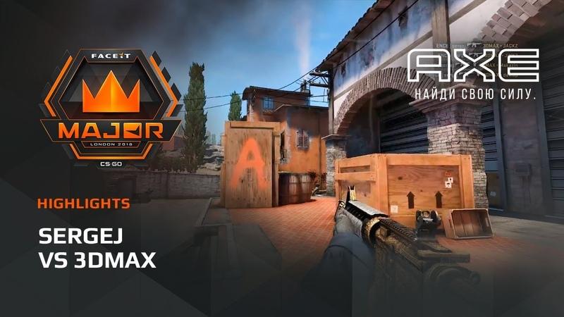 Sergej vs 3DMAX, Europe Minor – FACEIT Major 2018