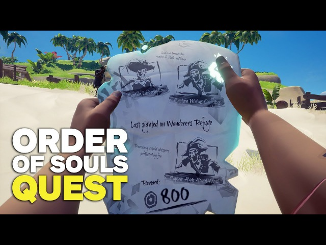 10 Minutes of a Sea of Thieves Order of Souls Quest (4K 60FPS)