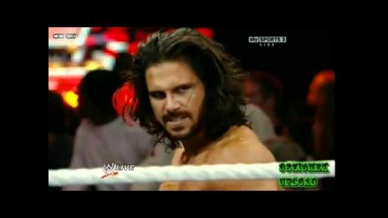 The Miz vs. John Morrison - Falls Count Anywhere Match for WWE Championship (1/3/11 WWE RAW )
