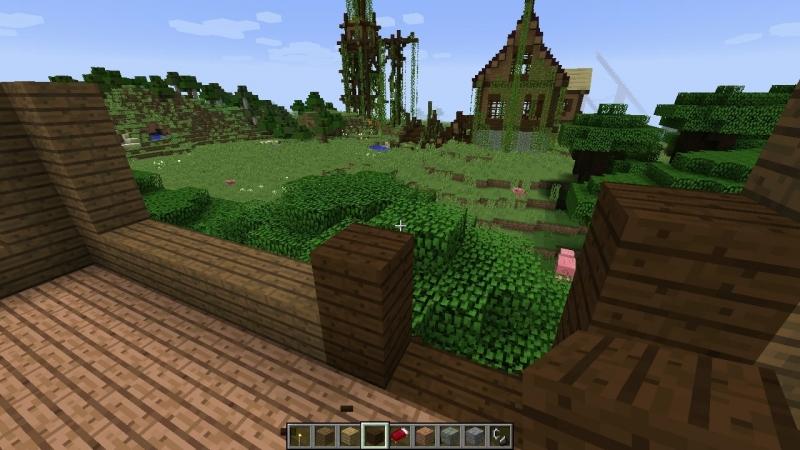 Случайная запись Майнкрафт домик на деревьях