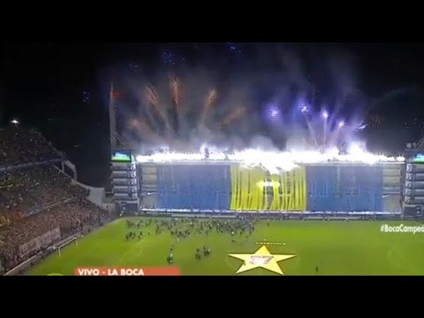 Festejos en la Bombonera BOCA CAMPEON 2018 vuelta olimpica