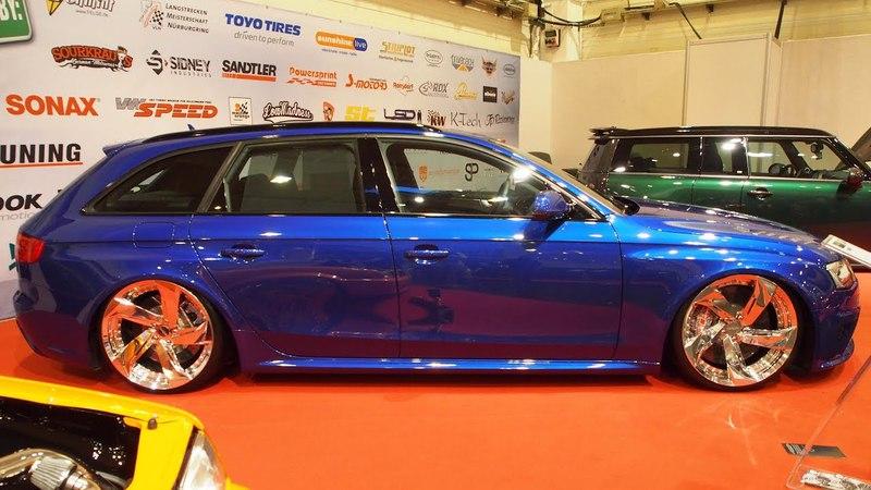 Audi A4 Avant 2011 3.0L TDI Tuning 210ps, HR Ultralow, Rotiform MUC 9.5j 10.5j x R20, Sepang-Blau