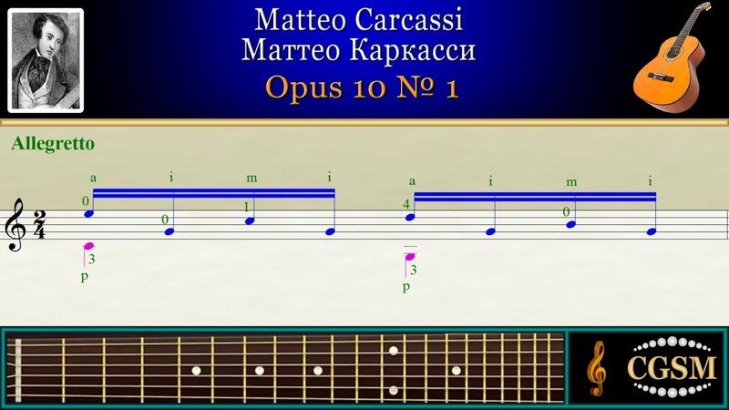 Carcassi Opus 10 No 1 Guitar | Каркасси Opus 10 No 1 Гитара