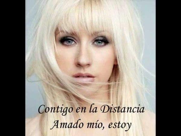 Christina Aguilera- Contigo en la Distancia With Lyrics