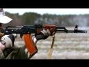 Замедленная съемка стрельбы из автомата Калашникова АК 47