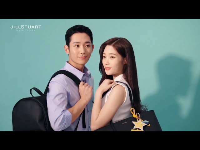 다이아(DIA)'s Chaeyeon and 정해인(Jung Hae-in) JILLSTUART SPORT photoshoot
