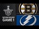 Boston Bruins vs Tampa Bay Lightning – Apr. 28, 2018 | Game 1 | Stanley Cup 2018. Обзор