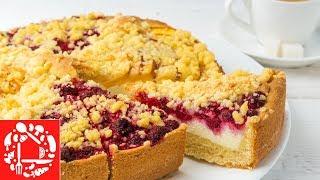 Безумно вкусный пирог с фруктами! 🍰😋👍 Домашняя вкуснятина из простых продуктов!