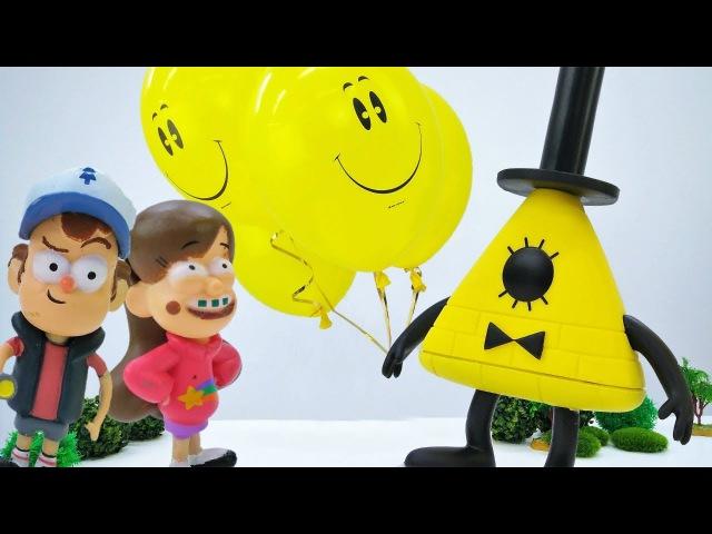 Игрушки Гравити Фолз в парке аттракционов. Видео на английском языке.