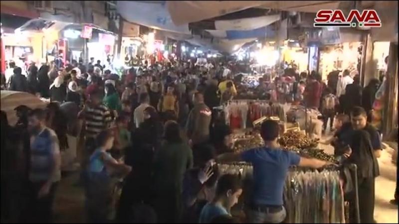 Рамадан в районе Al Madina Souq г. Aleppo