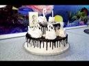 Двухъярусный торт ЛЕБЕДИНОЕ ОЗЕРО\ Tiered cake SWAN LAKE