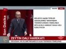 Cumhurbaşkanı Erdoğan,fıratın doğusu güvenli oluncaya kadar zeytin dalında yorumuza devam edeceğiz