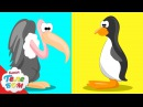 Дикая природа. Птицы! Мультик с Киндер сюрпризами. Учим птиц и животных для малыш...