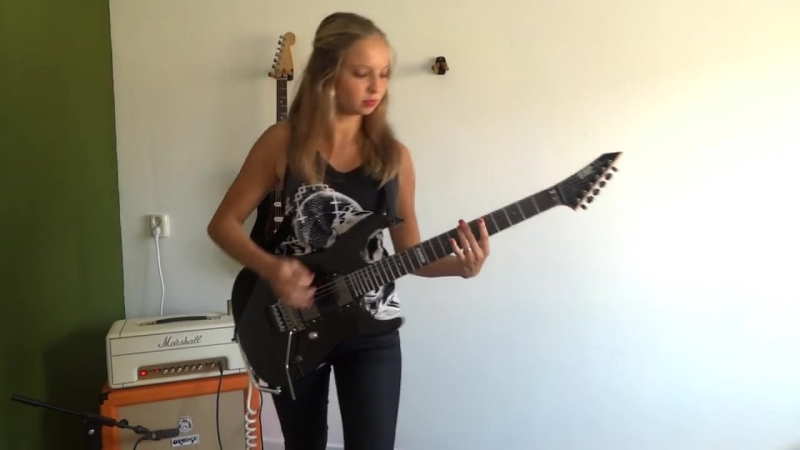 And Justice For All Metallica guitar cover by Cissie with Hammett solo
