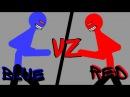 Красный против синего,рисуем мультфильмы 2/Red vz blue, Animating Touch 2.Старый мульт.