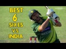 Boom Boom shahid afridi |Top 6 sixes vs India| Best six records against india,ashwin in cricket