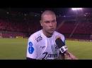 SEM EXPLICAÇÃO Guilherme Mattis, do Bragantino, explica seu toque que resultou em gol do Vitória