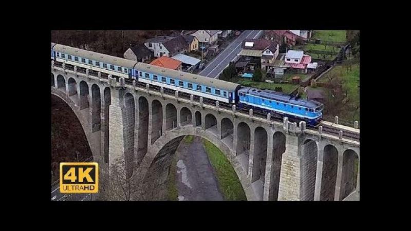 Vlaky na Mladoboleslavsku 1.1.2018 (4K)
