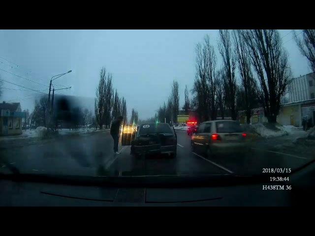 ДТП Воронеж 15 03 2018 угон на Машмете