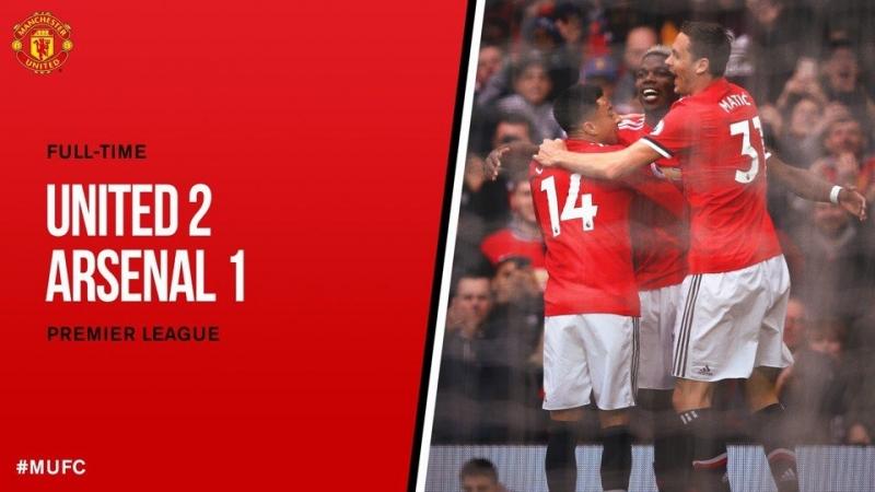 Манчестер Юнайтед 21 Арсенал (АПЛ 20172018 36-й тур 29.04.2018)