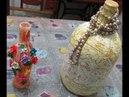 Artesanato Como fazer decorações com garrafas de vidro