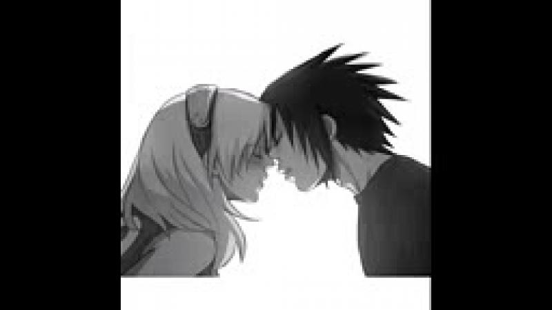 Сакура и саске пара из аниме мультика наруто