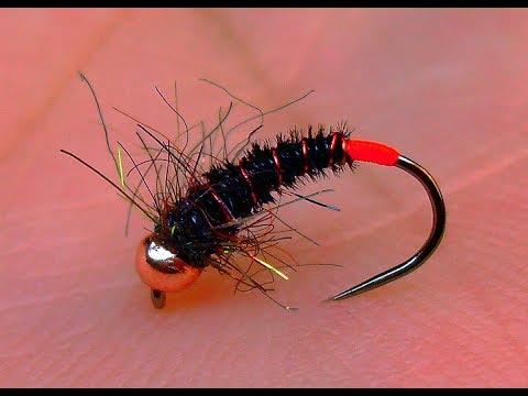 Tying a Black Pheasant Tail River Nymph by Mak
