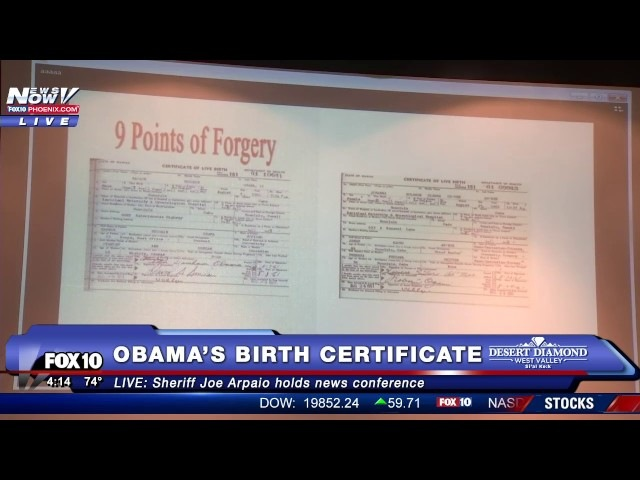 WOW: Sheriff Joe Arpaio Releases New Information on President Obama's Birth Certificate (FNN)