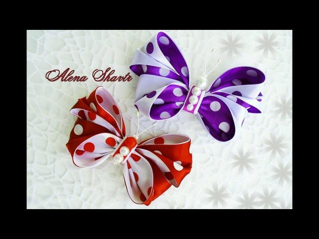 Бантик-бабочка из атласной ленты🎀МК🎀Laço de fita🎀Ribbon bow