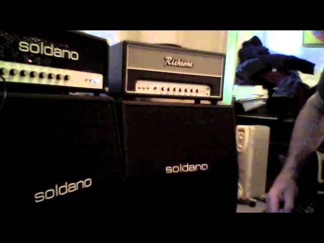 Soldano SLO 4x12 cabinets eminence x12000 vs celestion 30