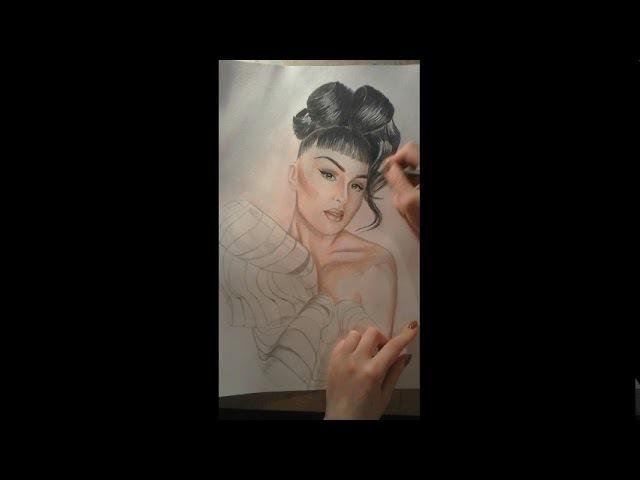 Speed drawing Victoria Modesta| Как нарисовать Викторию Модесту