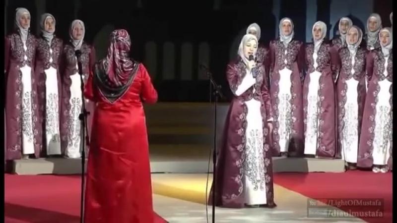 Маша аллах Мусульманка красиво поёт
