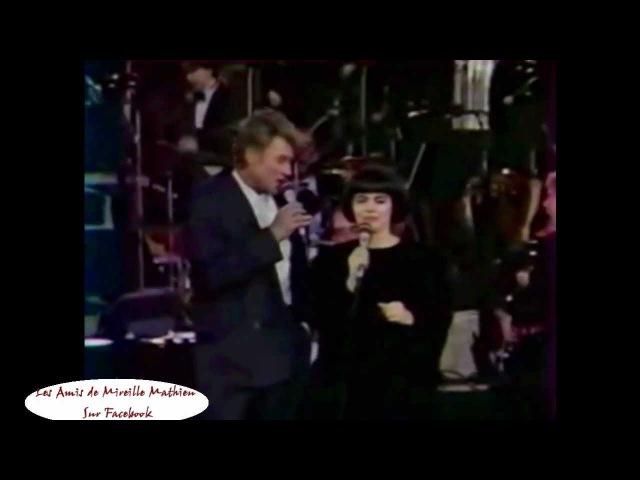 Mireille Mathieu DUO Johnny Halliday - A quoi ça sert lamour le 30 janvier 1988 (Live - PIAF)