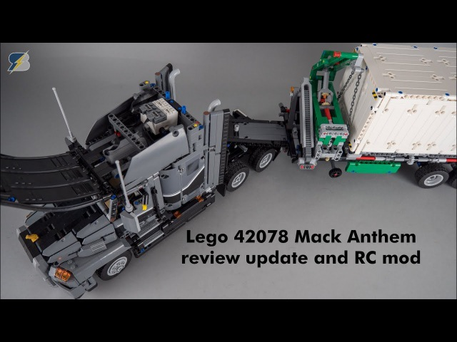 Lego Technic 42078 Mack Anthem review updates and RC mod with SBrick