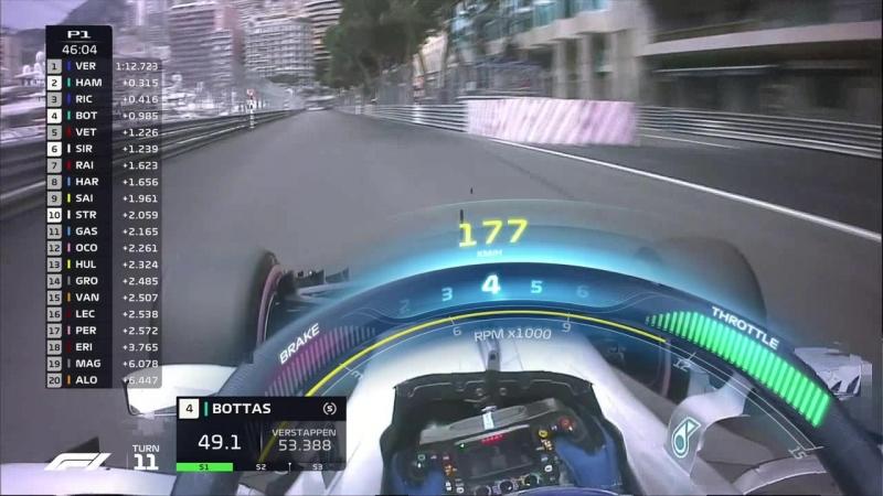 Formula1 2018. Round 6. Monaco. Free Practice 1