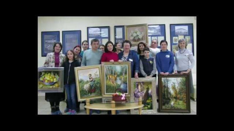 Вышитые картины ЭстЭ на встрече Клуба на Лавочке 10 февраля 2018